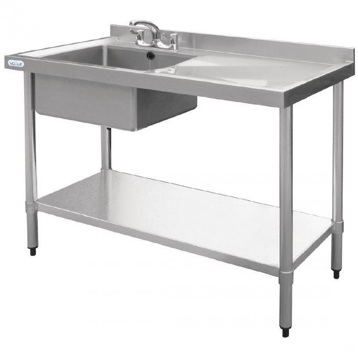 Vogue Single Bowl Sink R/H Drainer - 1000mm