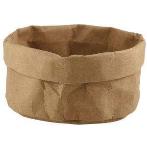 Brown Washable Paper Bag 20Diax14cm(H)