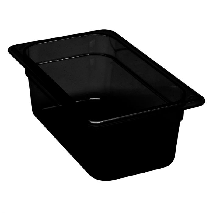 1/4 -Polycarbonate GN Pan 100mm Black