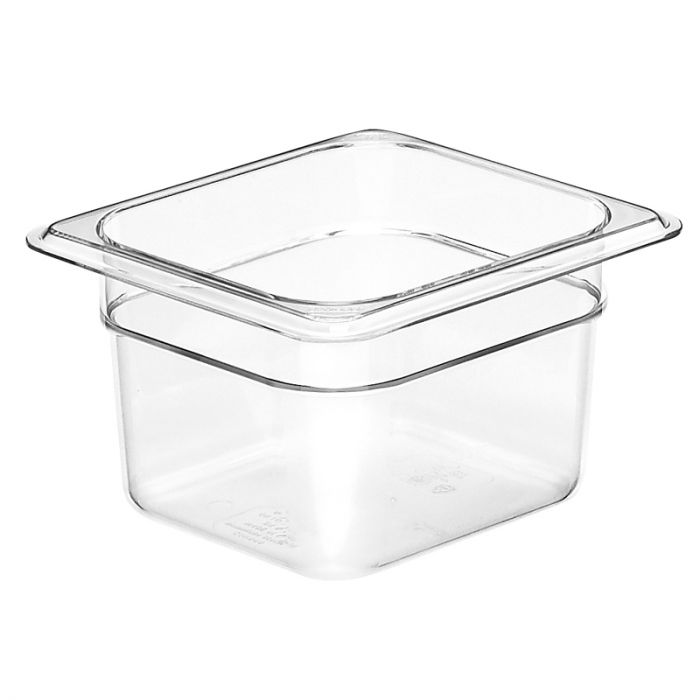 1/6 -Polycarbonate GN Pan 100mm Clear