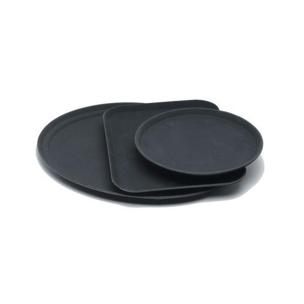 "Tray Gengrip Fibreglass Round 11"" Black"