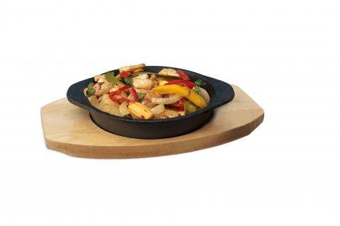 Round Cast Iron Dish & Trivet 14cm