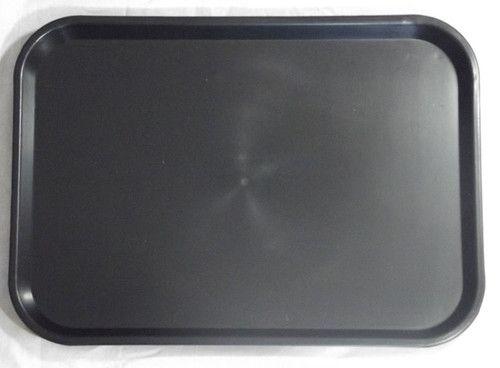 Black Large Plastic Catering Tray 406(L) x 305(W) x 22(D)mm