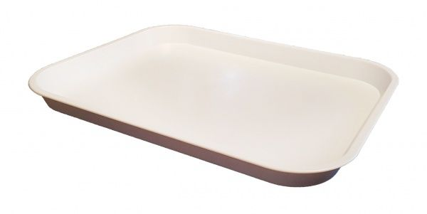 White Large Plastic Catering Tray 406(L) x 305(W) x 22(D)mm