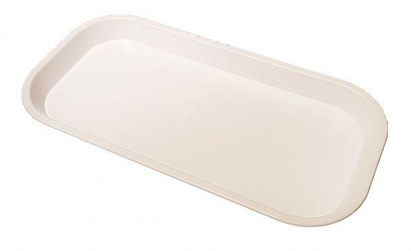 White Small Slim Plastic Tray 305(L) x 152(W) x 22(D)mm