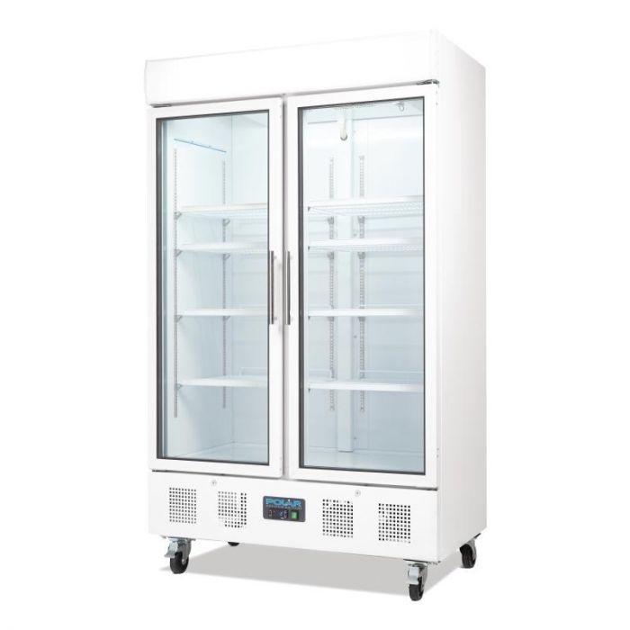 Polar Refrigerated Double Door Display Cooler - 944Ltr