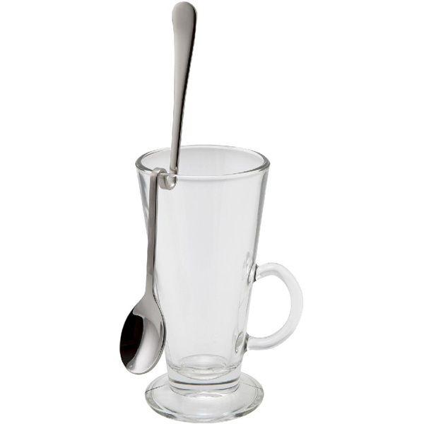 "Hanging Latte Spoon 8"" 18/8 S/St. (Dozen)"