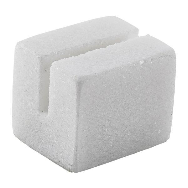 White Marble Sign Holder 3 x 2.5 x 2.5cm