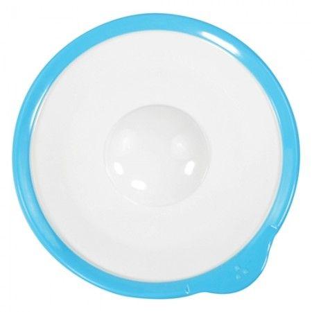 Omni White Saucer with Blue Rim 140x130x18mm