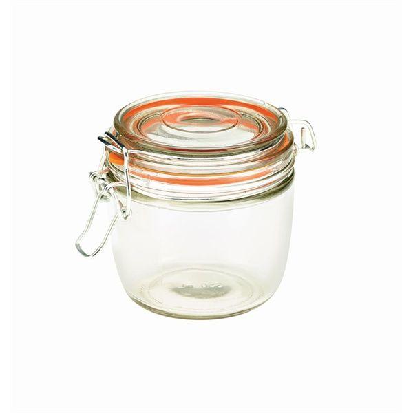 Genware Glass Terrine Jar 350ml 9.5 x 9cm