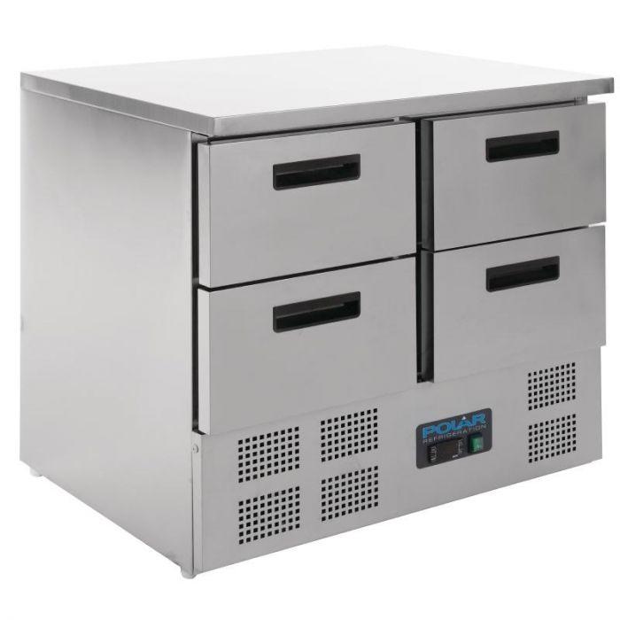 Polar 4 Drawer REFRIGERATED Counter(UK)